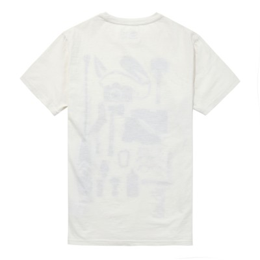 [A18PG] 남성 그래픽 티셔츠- 화이트