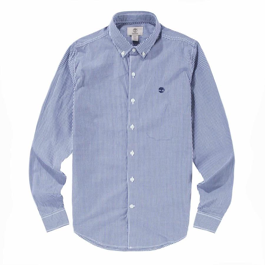 [A1FI9] 남자 포플린 셔츠 슬림핏 - 블루