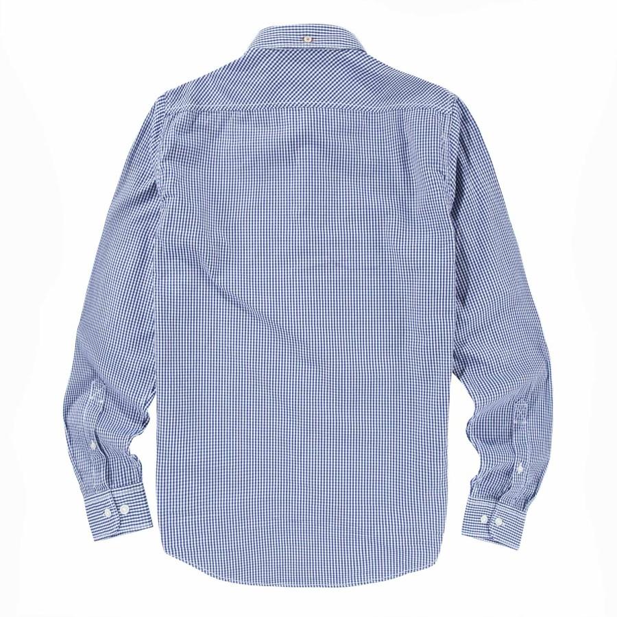 [A1FI9] 남성 포플린 셔츠 슬림핏 - 블루