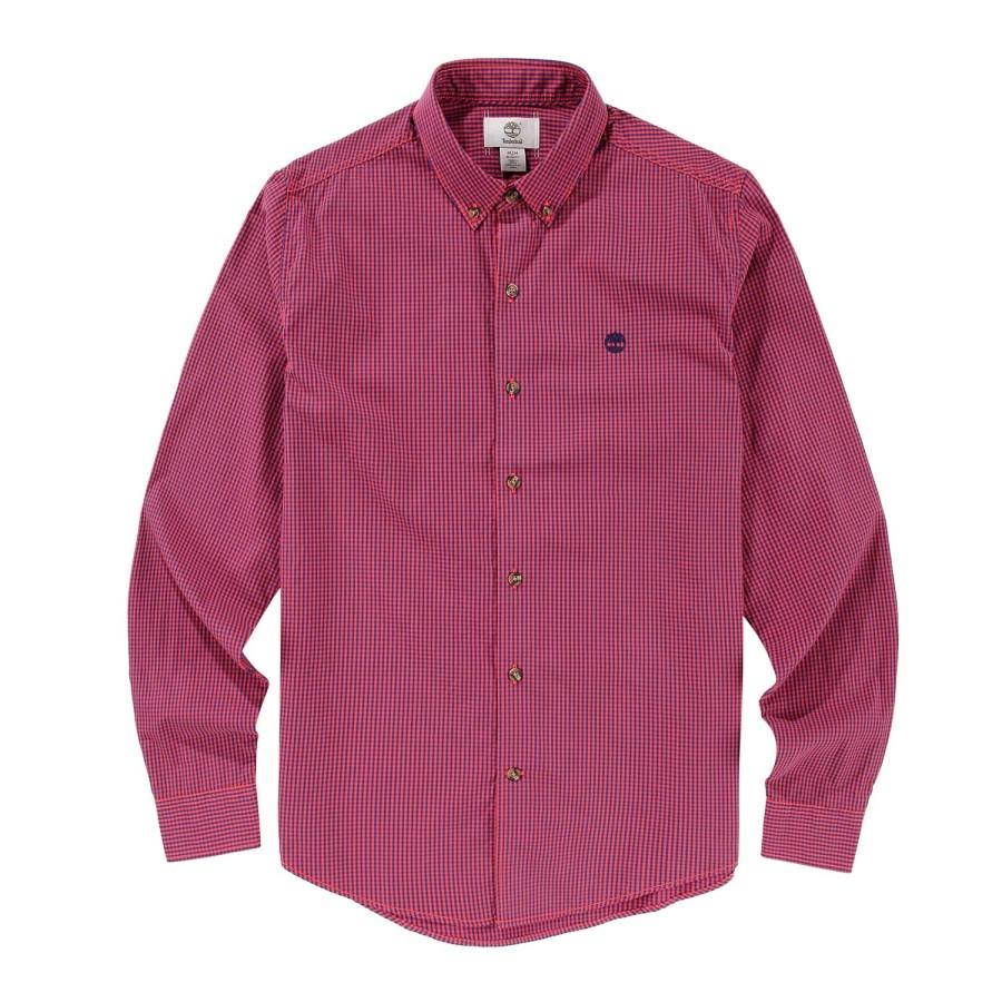 [A1FI9] 남성 포플린 셔츠 슬림핏 - 레드