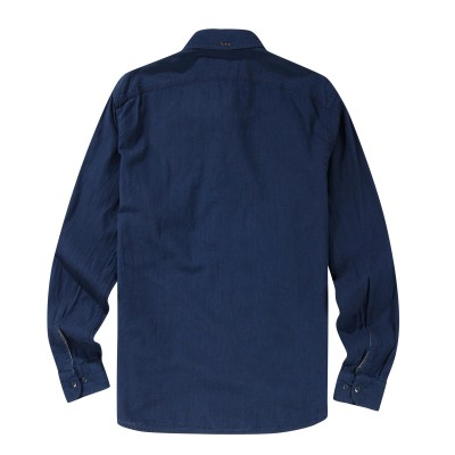 [A1FNL] 긴팔 슬림핏 샴프레이 셔츠 - 다크 사파이어