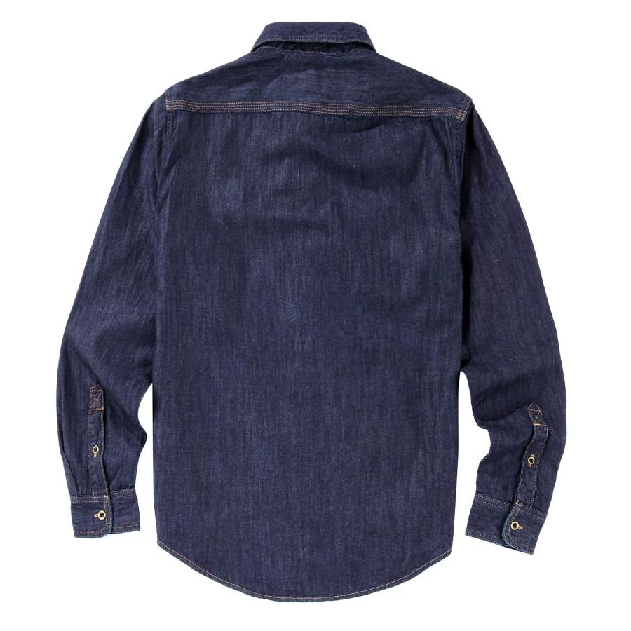 [A1FOJ]남성 긴팔 데님 셔츠- 블루