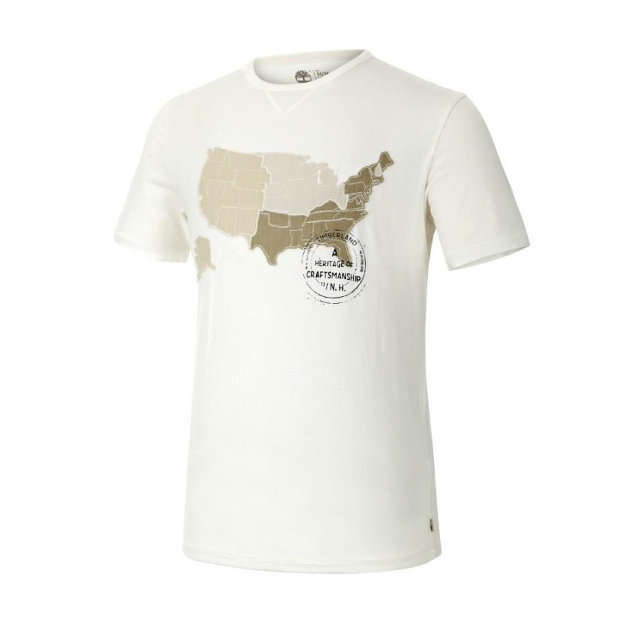 [A1FYX] 남성 그래픽 티셔츠- 화이트