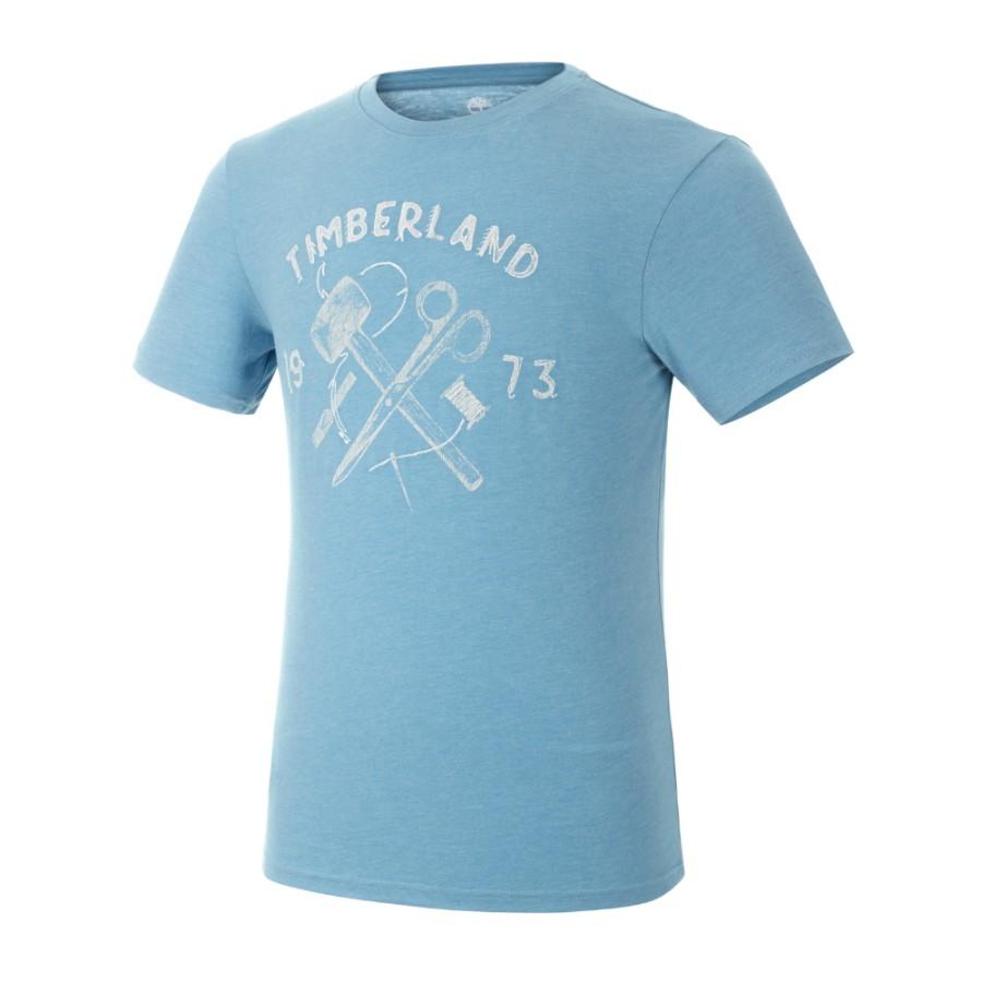 [A1H56] 남성 그래픽 티셔츠- 블루