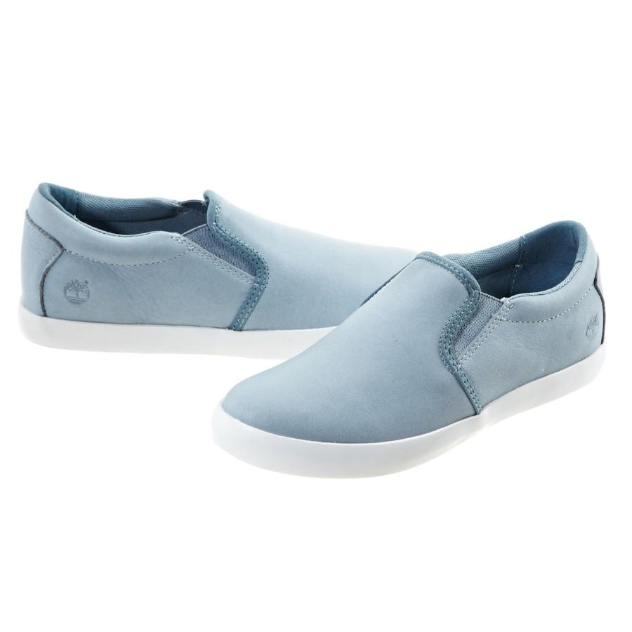[A1KWD] 여성 레더 슬립온- 블루