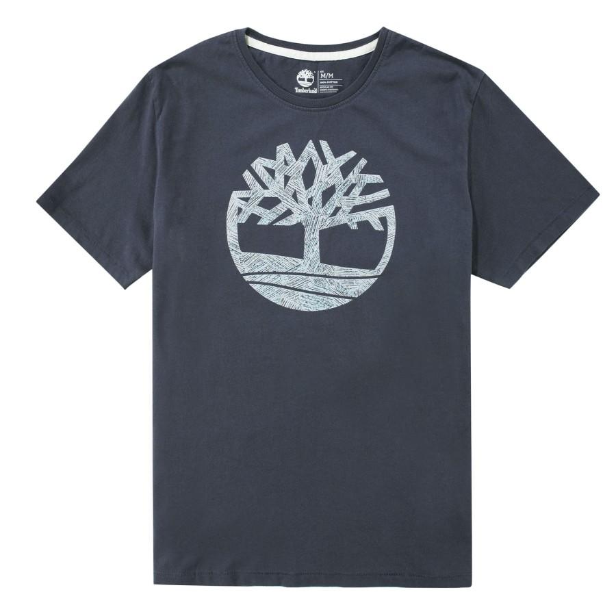 [A1MI4] 남성 블루 트리 로고 티셔츠- 네이비