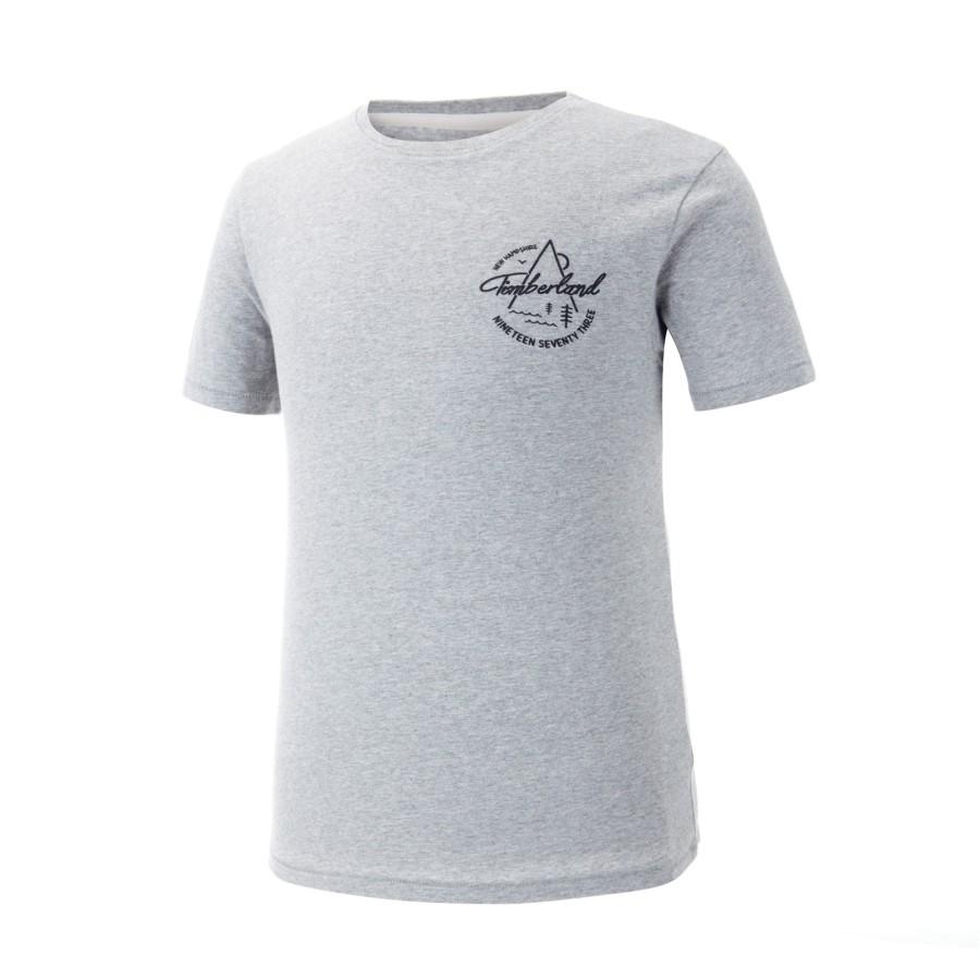 [A1MIQ] 남성 팀버랜드 그래픽 티셔츠- 그레이