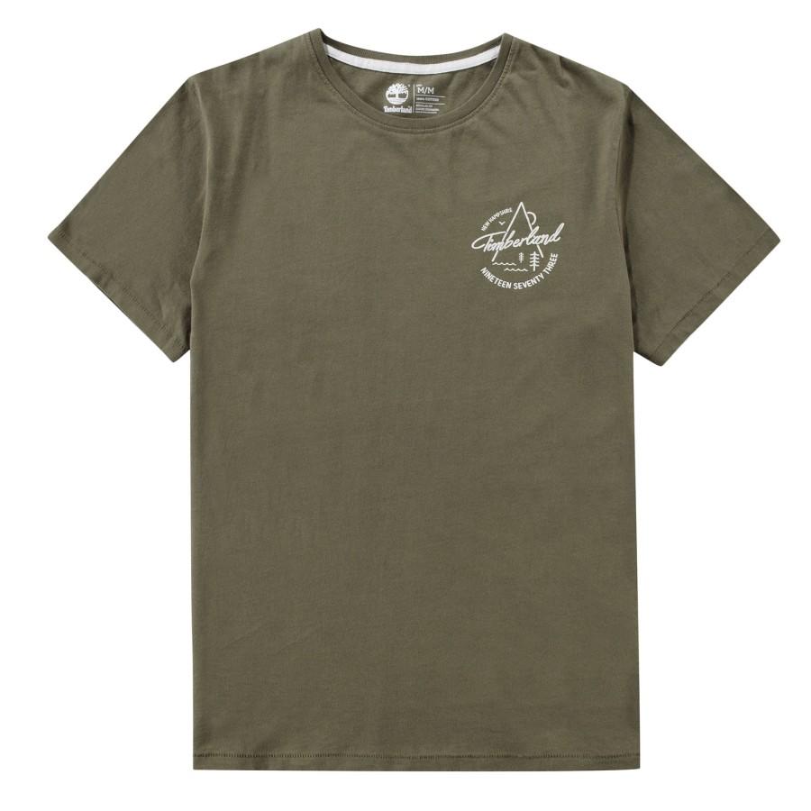 [A1MIQ] 남성 팀버랜드 그래픽 티셔츠- 카키