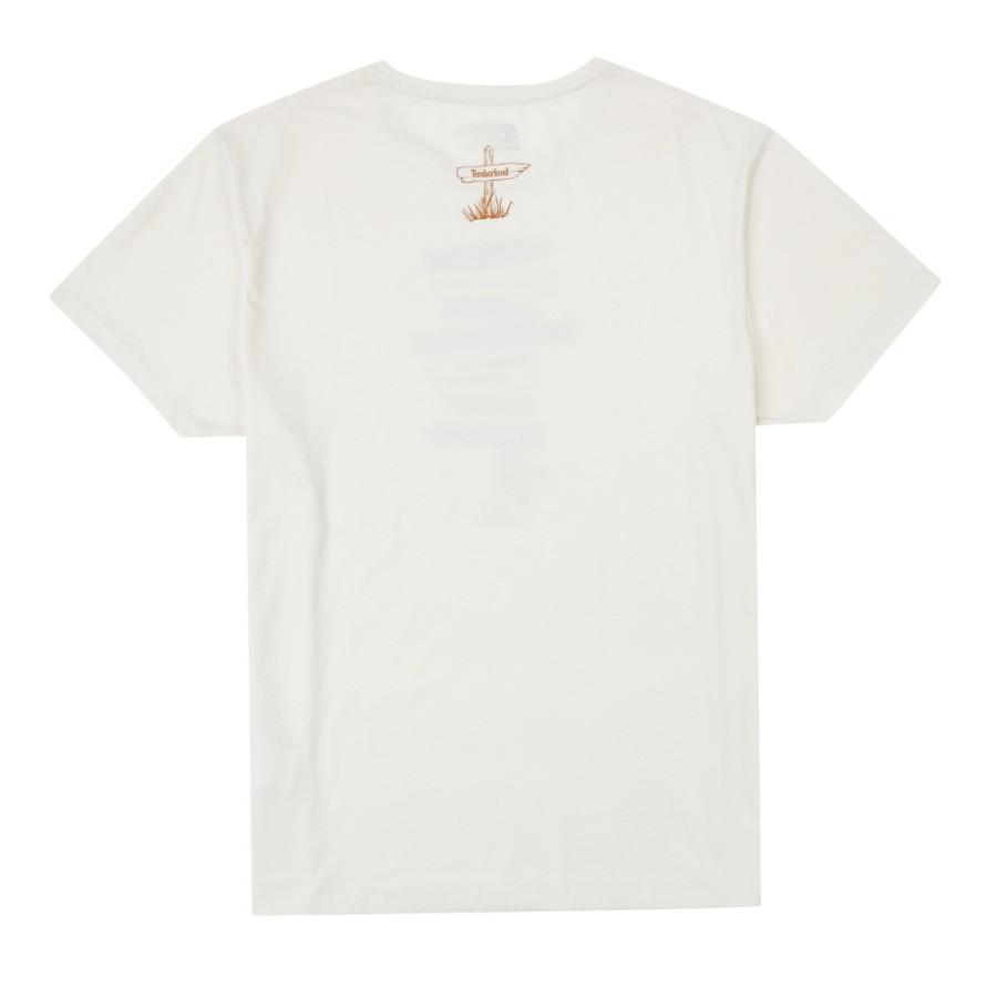 [A1MKX] 남성 그래픽 티셔츠- 화이트