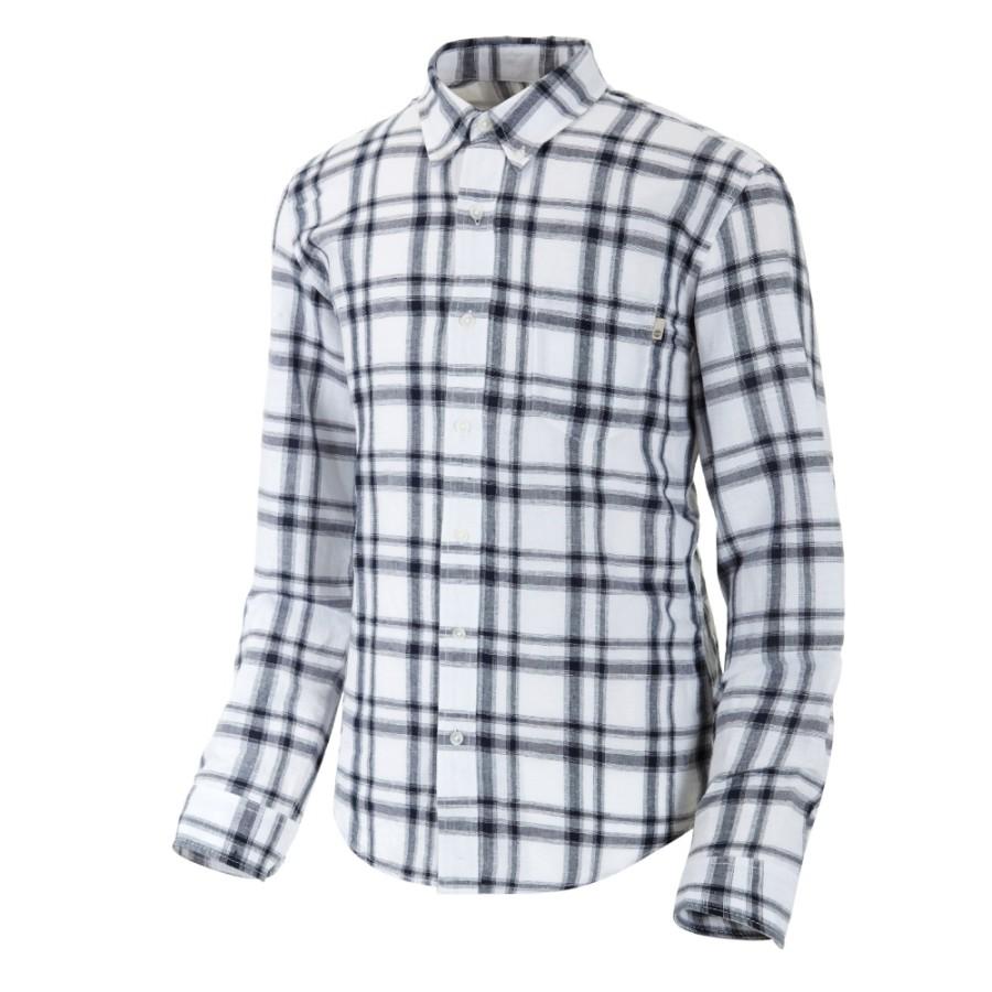 [A1N54] 남성 린넨 체크 셔츠 슬림핏- 블루