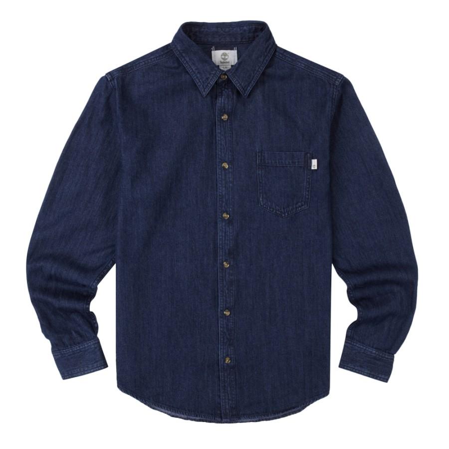 [A1N5F] 남성 데님 셔츠 슬림핏- 블루