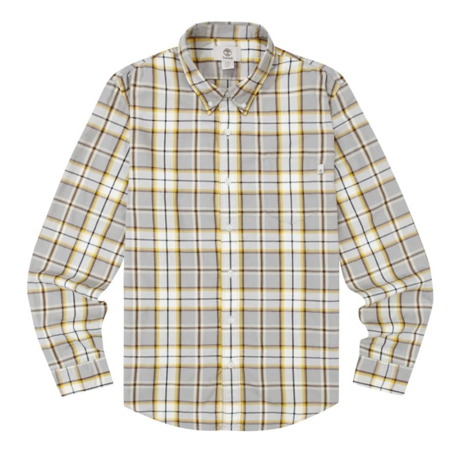[A1N6D] 남성 체크 셔츠- 그레이