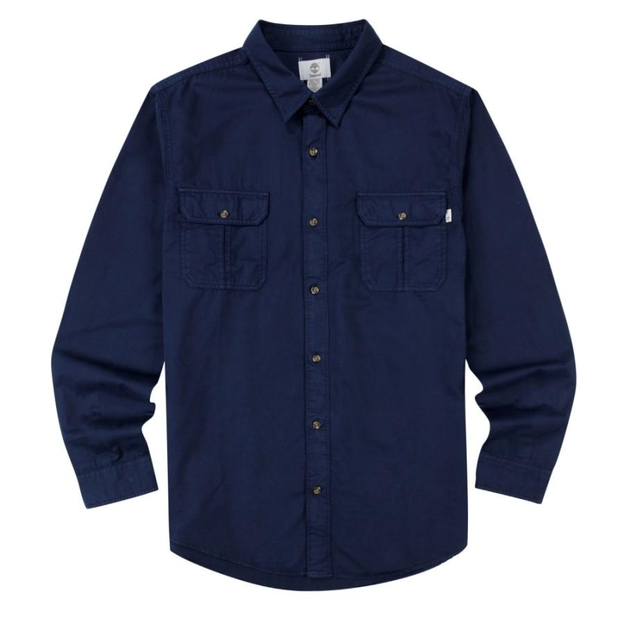 [A1N7X] 남성 긴팔 우븐 셔츠- 블루