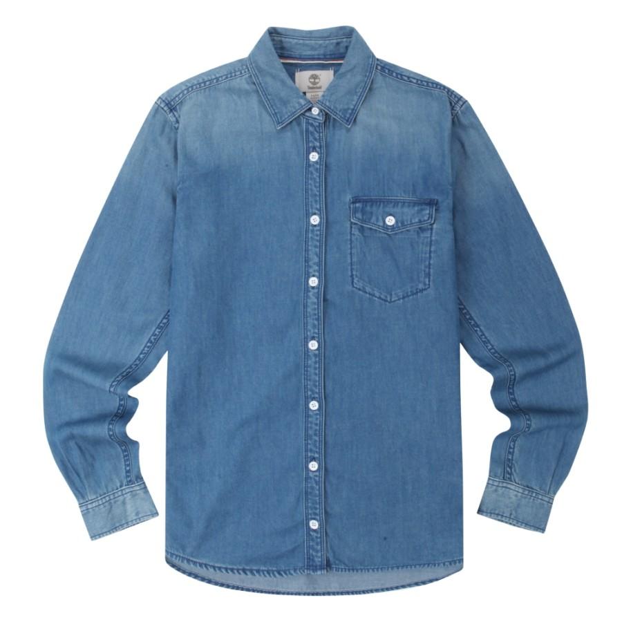 [A1NNC] 여성 포레스트 데님 셔츠- 블루