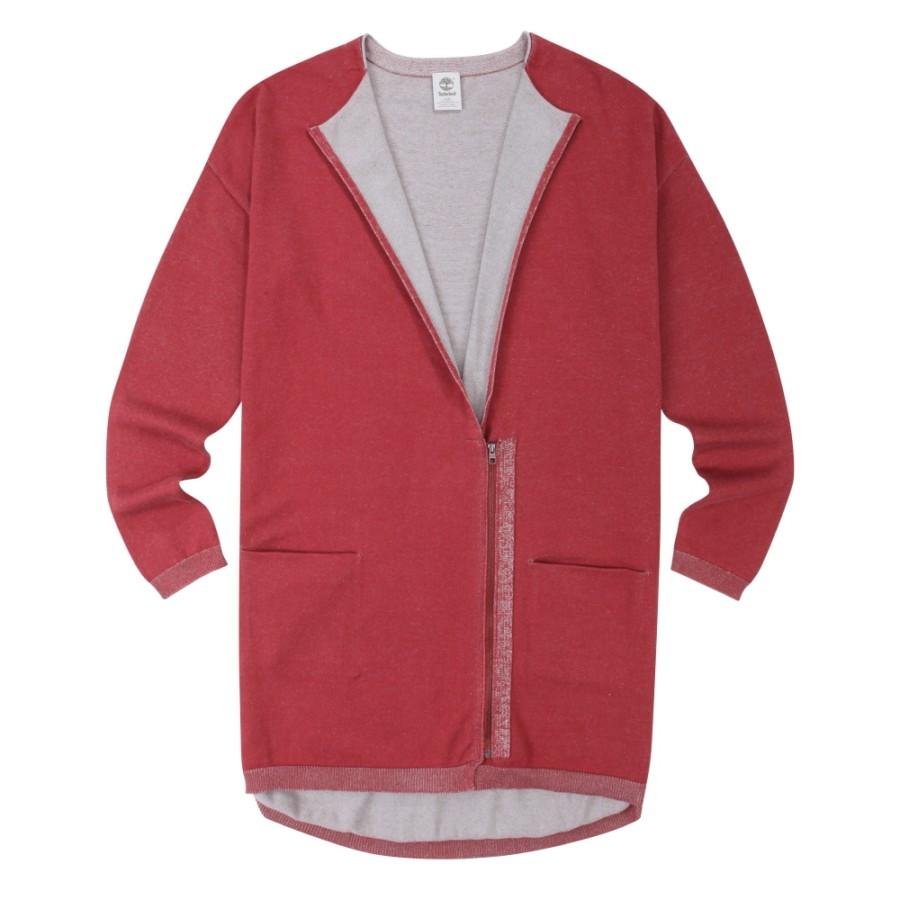 [A1NOL] 여성 포인트 롱 스웨터- 레드