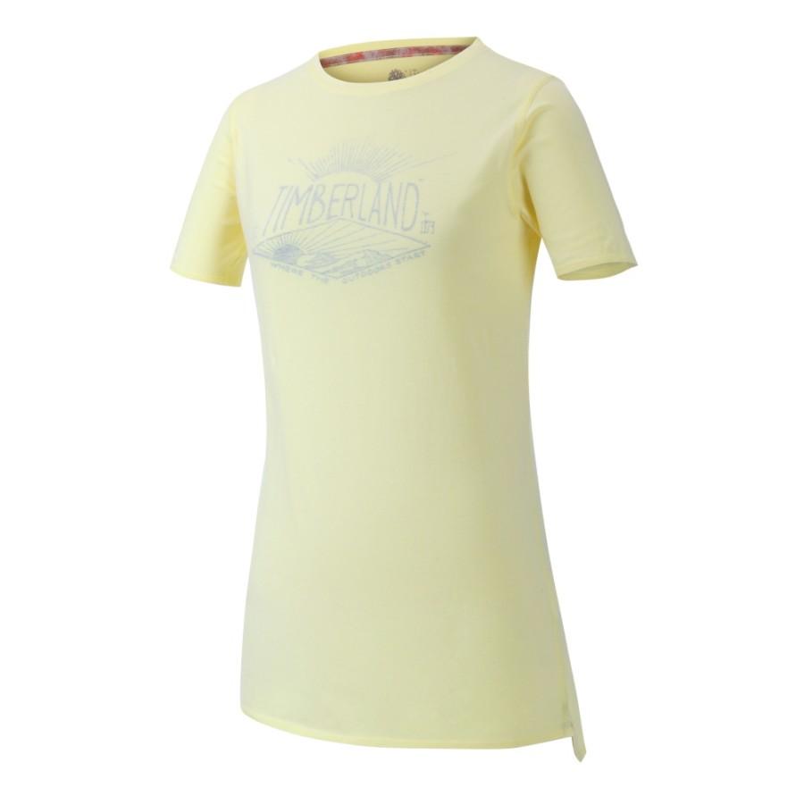 [A1NP8] 여성 그래픽 티셔츠- 옐로우