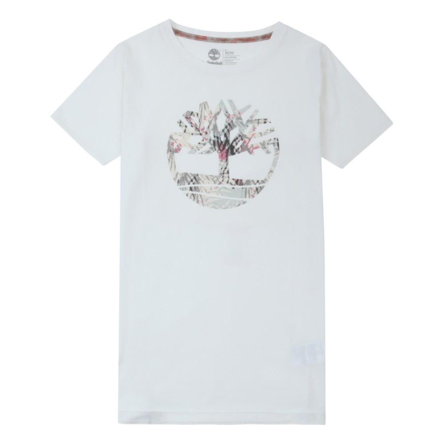 [A1NUK] 여성 트리 로고 티셔츠- 화이트
