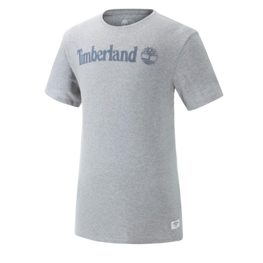 [A1STX] 남성 레터 로고 티셔츠- 그레이