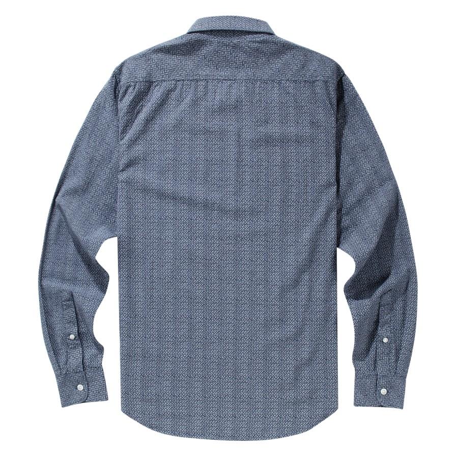 [A1FJI] 남자 프린트 우븐 셔츠 슬림핏 - 그레이
