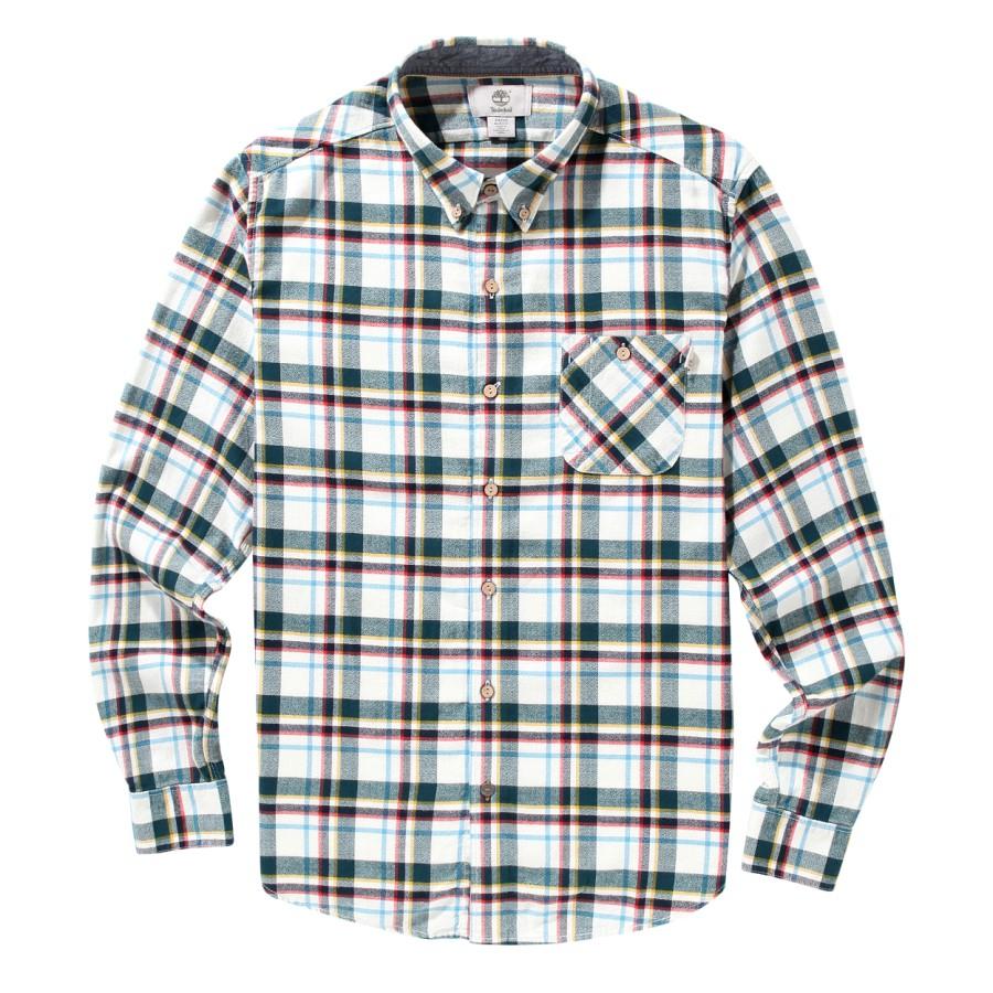[A1FK5] 남성 플란넬 체크 셔츠 슬림핏 - 블루