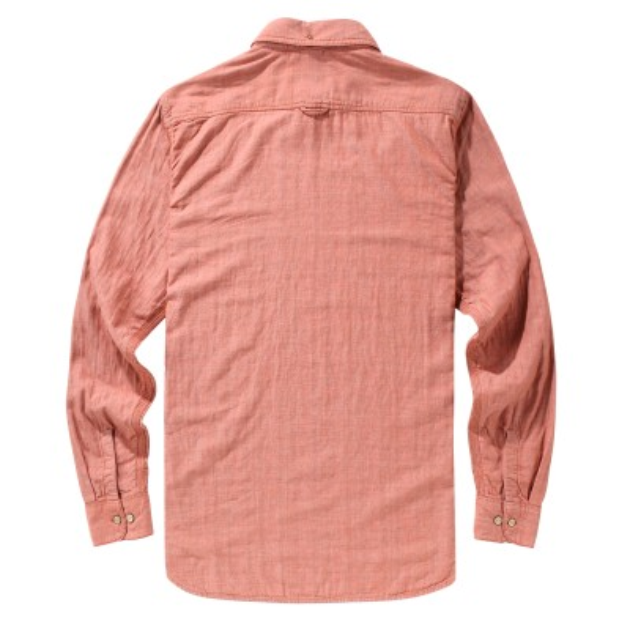 [A1FOU] 남성 더블 레이어 셔츠 슬림핏 - 레드