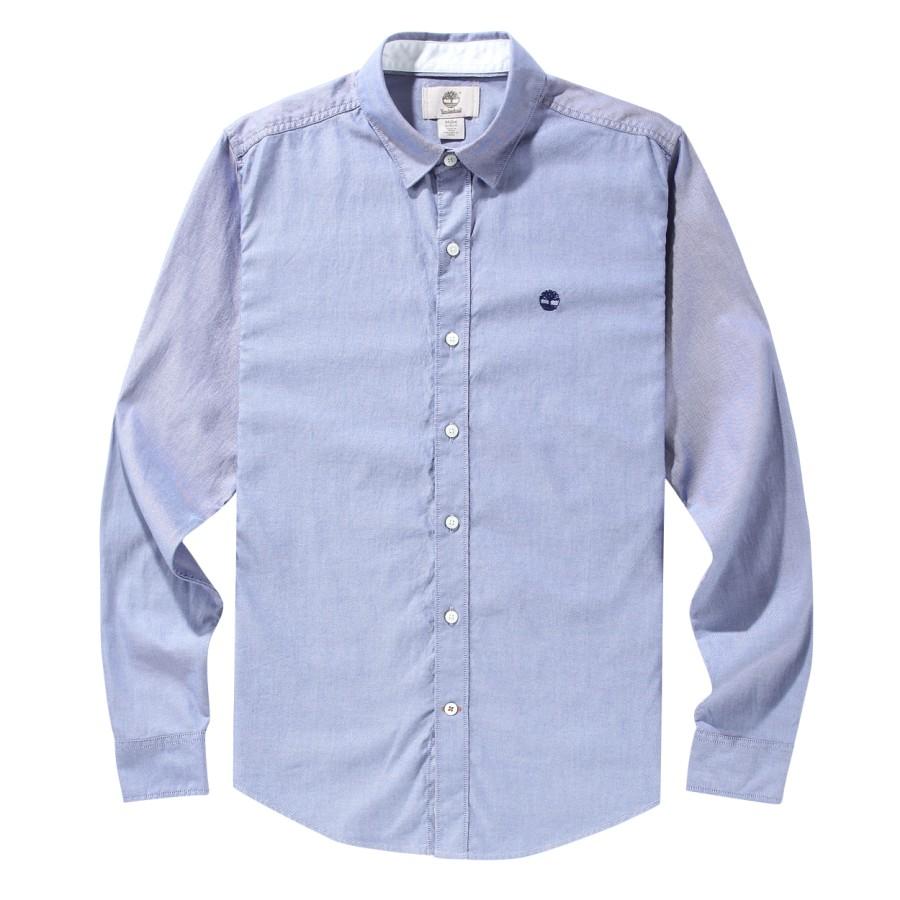 [A1FPS] 남성 옥스포드 셔츠 슬림핏 - 블루