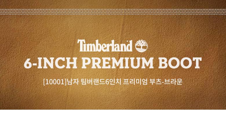 TIMBERLAND 6-INCH PREMIUM BOOT, [10001]남자 팀버랜드6인치 프리미엄 부츠-브라운