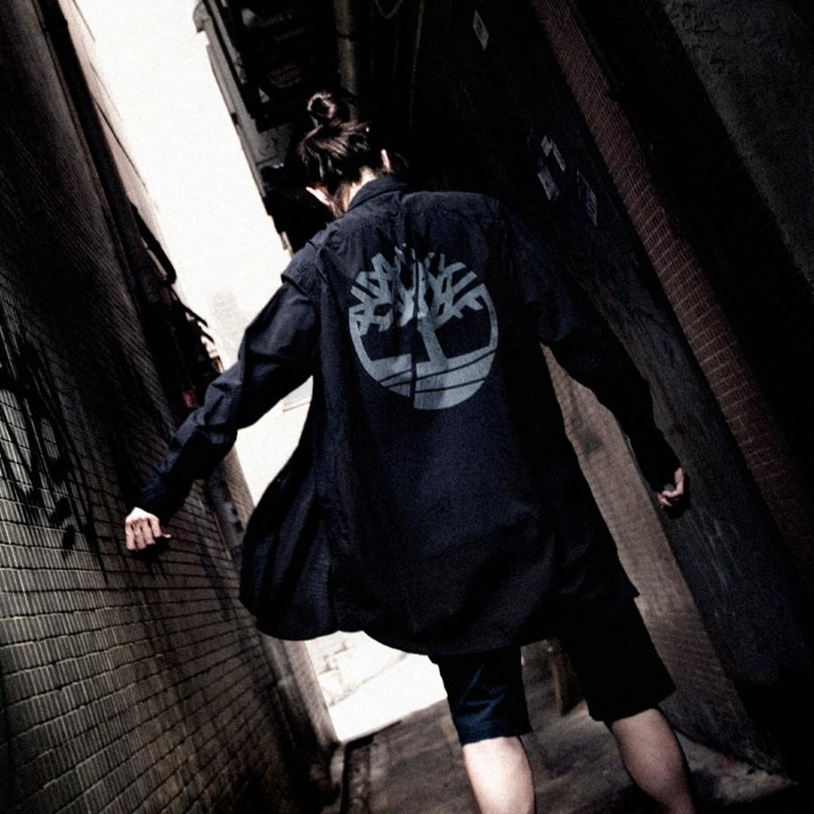 [A1LBG] 남성 루즈핏 트리 로고 셔츠- 블랙