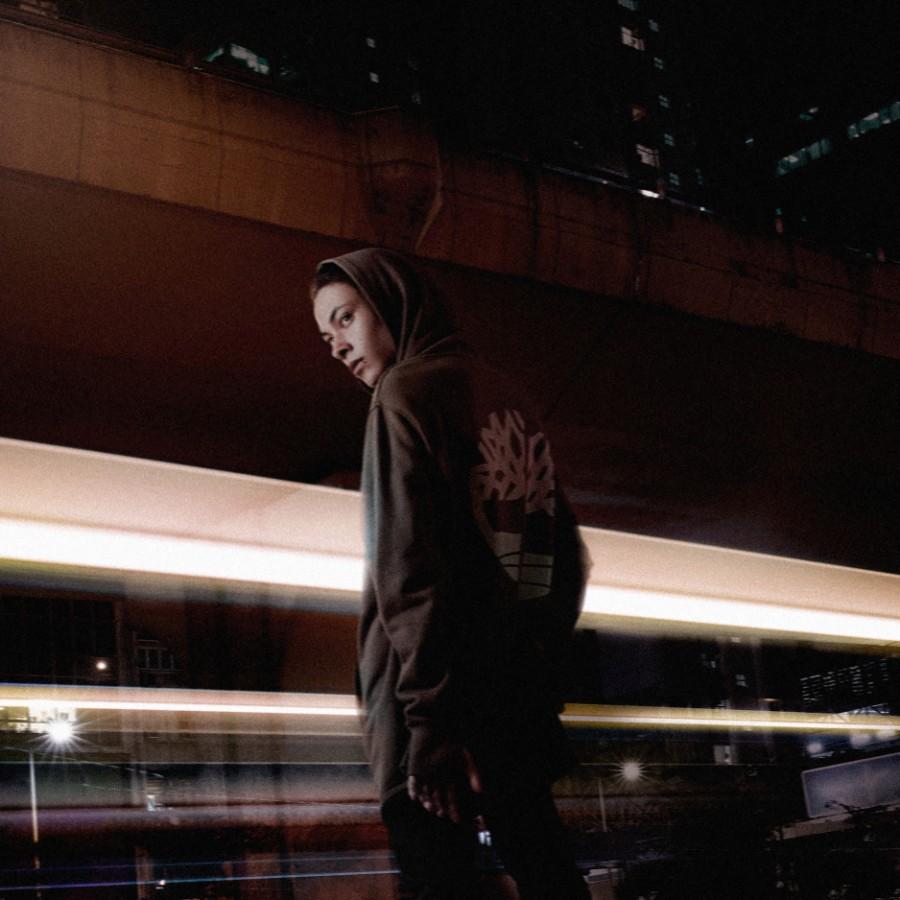 [A1LBP] 남성 루즈핏 트리 로고 후드- 브라운