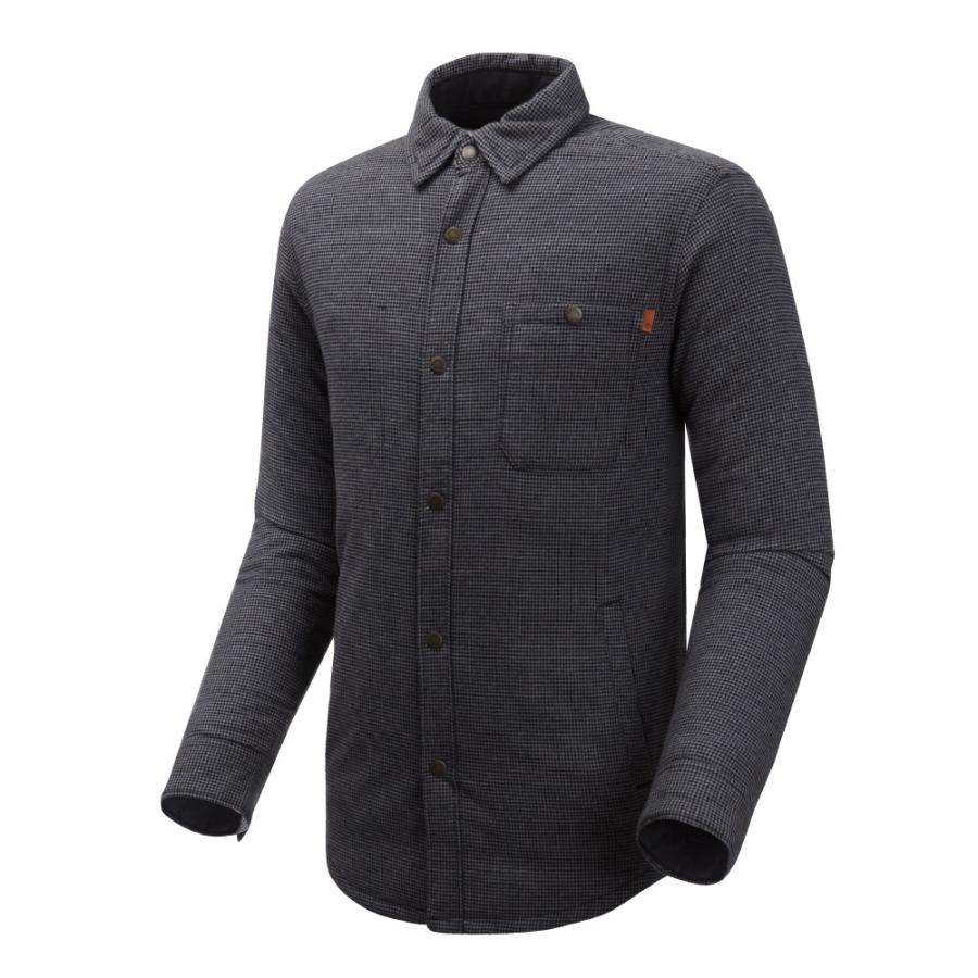 [A1UOZ] 남성 리버서블 다운 셔츠 자켓- 블랙
