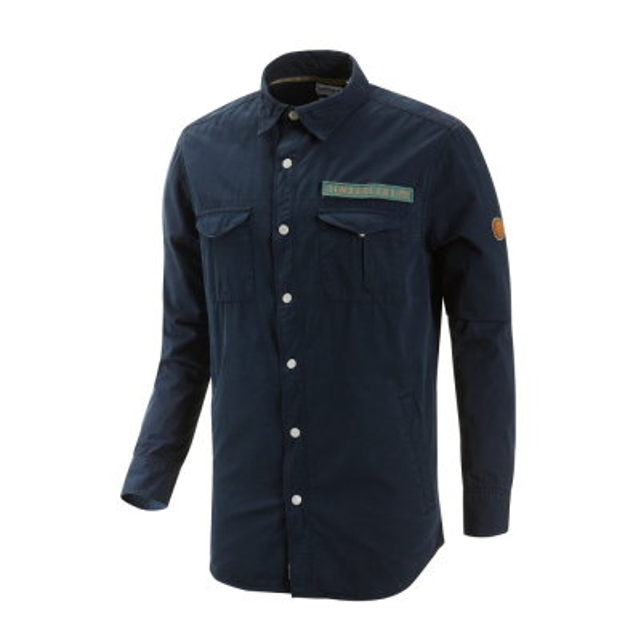 [A1LXO] 남성 LS 밀리터리 트윌 카고 셔츠-블루