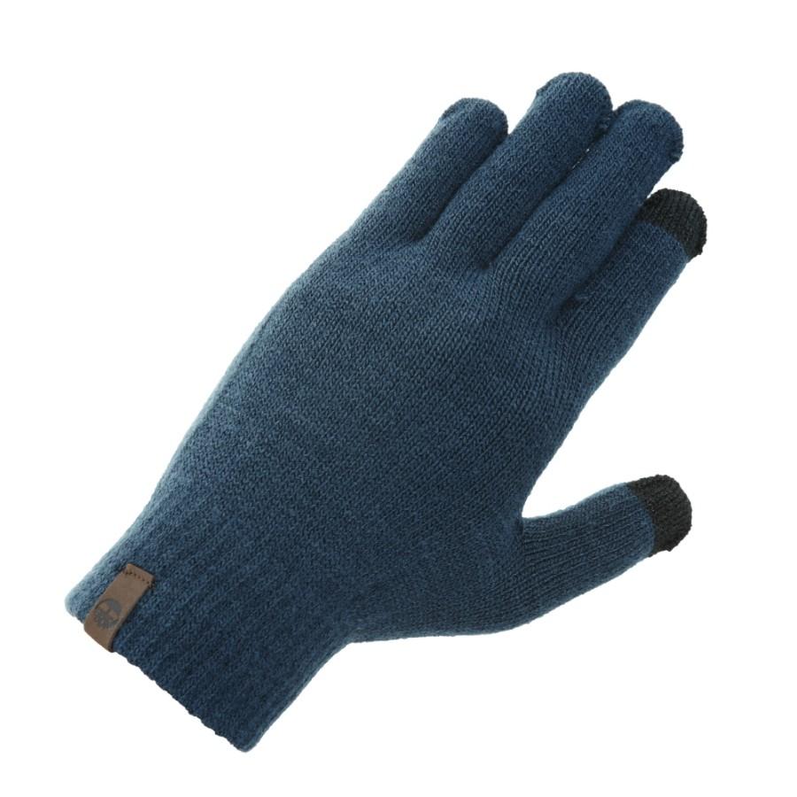 [A1E8Q] 트리로고 니트 장갑- 블루
