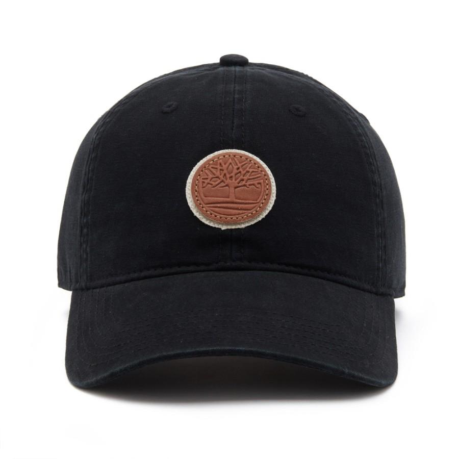 [A1E9A] 남성 라이 비치 코튼 캔버스 모자- 블랙