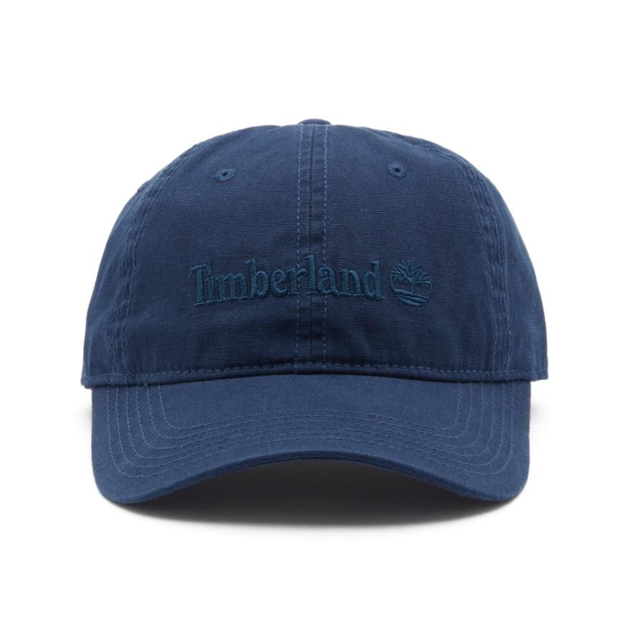 [A1E9I] 남성 코튼 캔버스 모자 - 블루