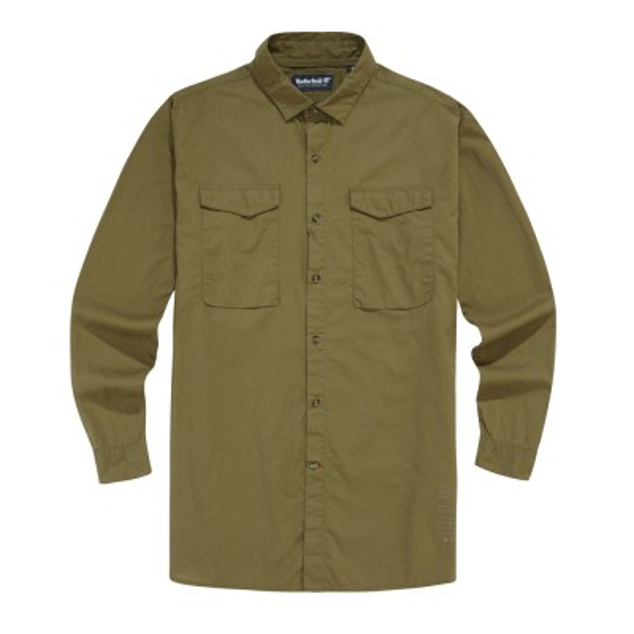 [A1LBG] 남성 루즈핏 트리 로고 셔츠- 브라운