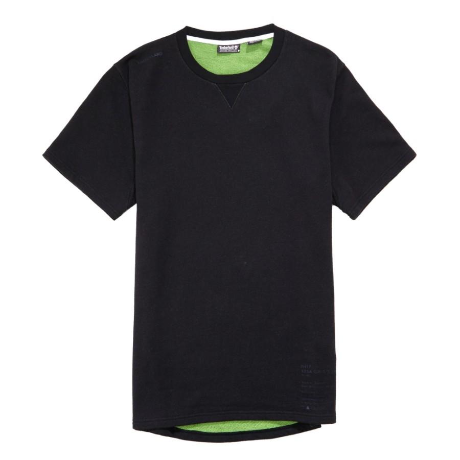 [A1LBO]남성 루즈핏 트리 로고 티셔츠- 블랙