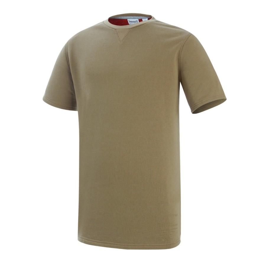 [A1LBO]남성 루즈핏 트리 로고 티셔츠- 브라운