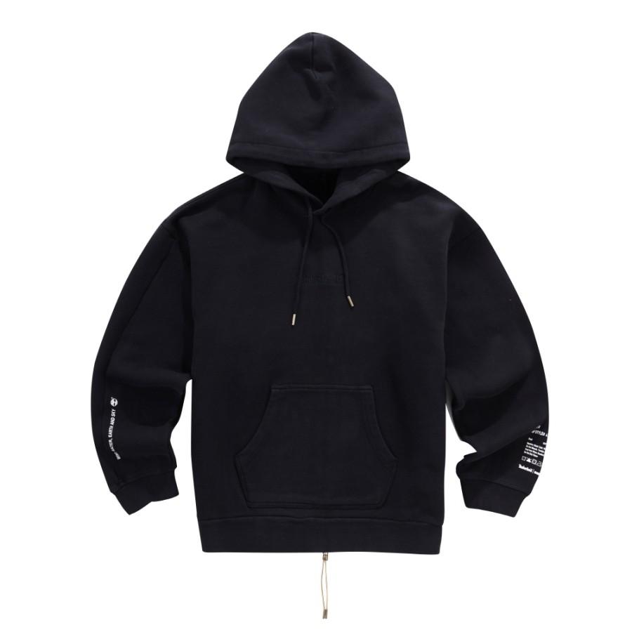 [A1LM3] 남성 몽키타임 후드 티셔츠-블랙