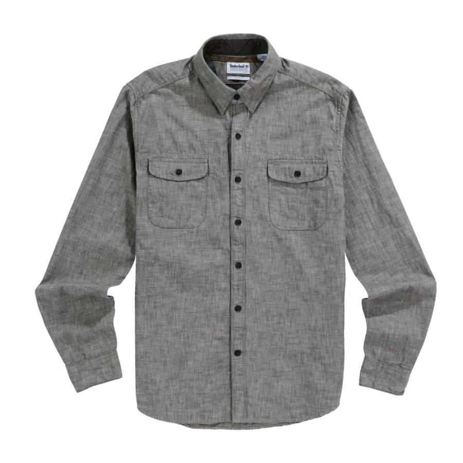[A1LX3] 남성 슬림핏 밀리터리 카고 셔츠- 그린