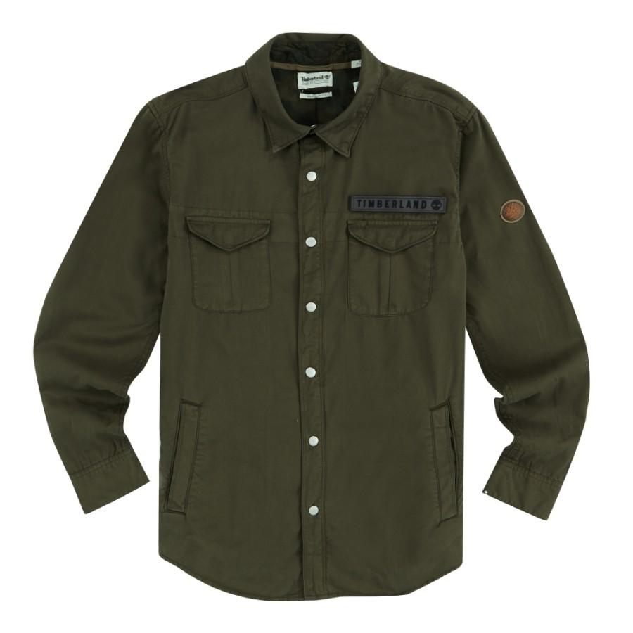[A1LXO] 남성 LS 밀리터리 트윌 카고 셔츠-그린
