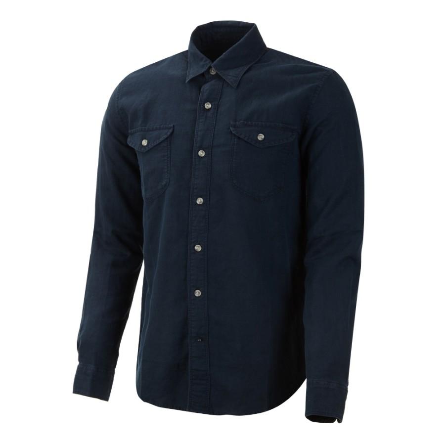 [A1LY2] 남성 밀 리버 린넨 카고 셔츠 - 블루