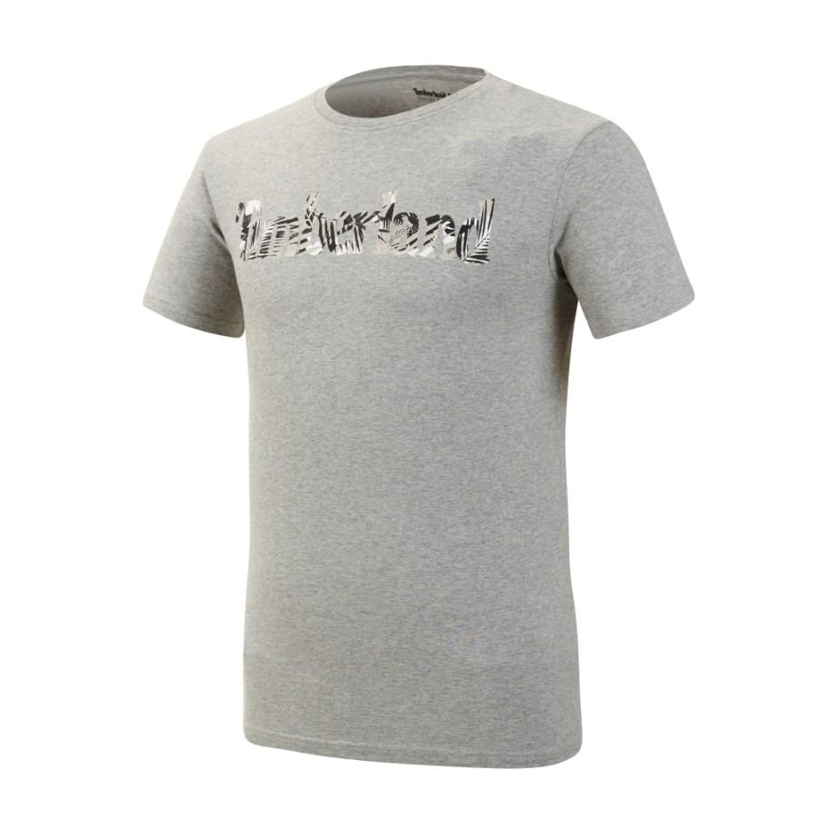 [A1M18] 남성 케네백 리버 시즈널 패턴 브랜드 슬림 티 - 그레이