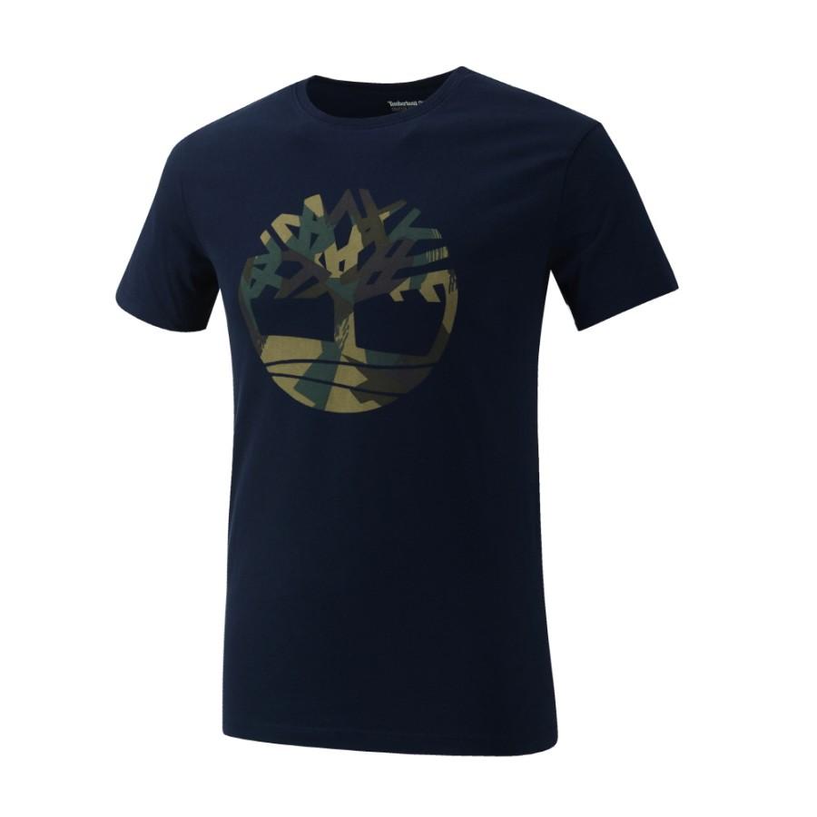 [A1M18] 남성 케네백 리버 시즈널 패턴 브랜드 슬림티 - 블루