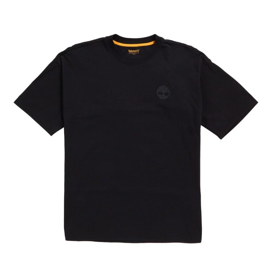 [A1MBV] 남성 디스티브 로고 블랑 티 - 블랙