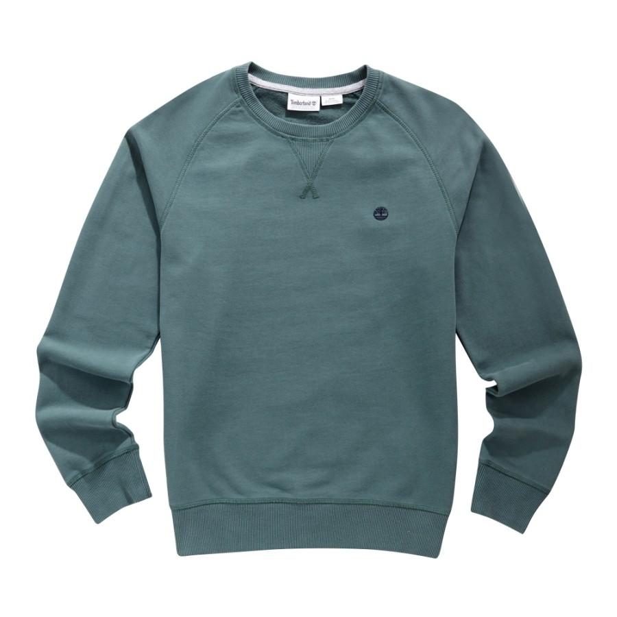 [A1MQL] 남성 리버 베이직 크루 스웨트 티셔츠- 덕그린