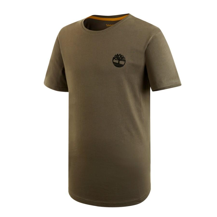 [A1N3C] 남성 그래픽 티셔츠 - 브라운