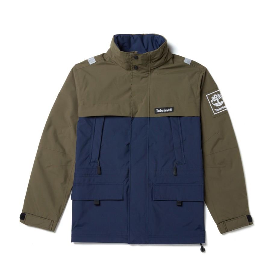 [A1N8A] 남성 SLS 컬러블록 자켓  - 카키&다크블루
