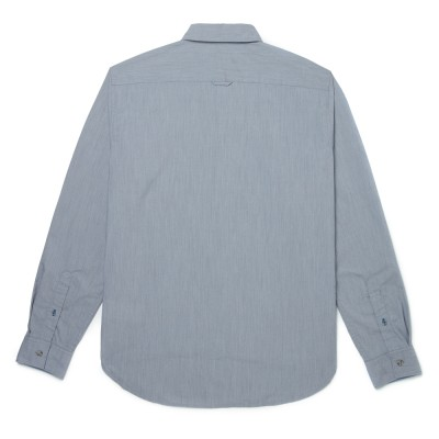 [A1NN4] 남성 샴브레이 고급 소재 슬림셔츠 - 블루그레이