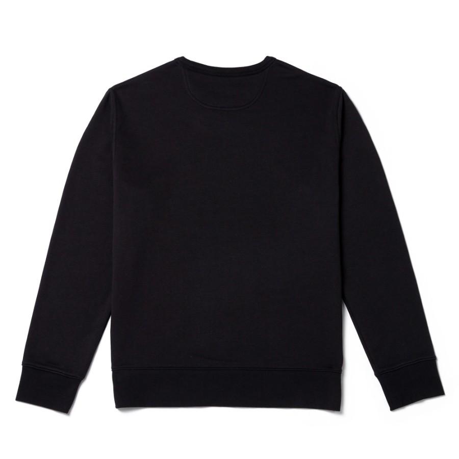 [A1OI1] 남성 아시아 SMU 크루 스웨터 - 블랙