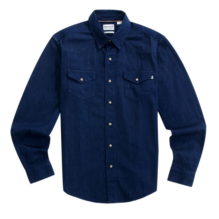[A1UNQ] 남성 뭄포드 리버 데님 셔츠 슬림핏